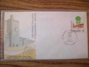CANADA FDC 1974 AGRICULTURE EDUCATION 8c FREE US SHIPPING