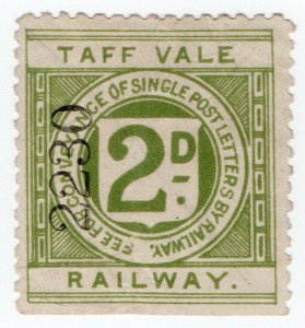 (I.B) Taff Vale Railway : Letter Stamp 2d