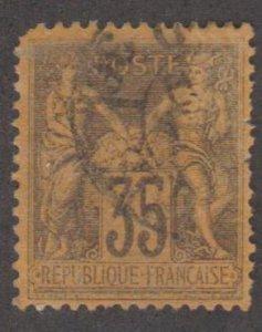 France Scott #94 Stamp - Used Single