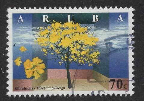 Aruba   #156   used  1997  wild flowers 70c