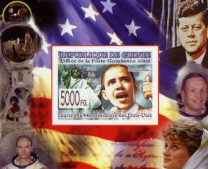 Guinea 2008 US Presidents Barack Obama JF.Kennedy Deluxe s/s mnh.vf