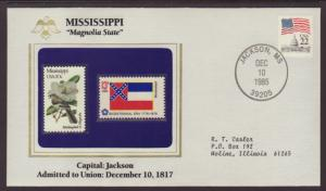 US Mississippi State Flag,Bird and Flower Cover BIN