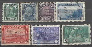 COLLECTION LOT # 5072 CANADA 7 STAMPS 1930+ CV+$16