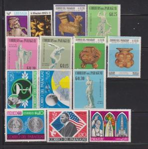 LOT OF DIFFERENT STAMPS OF PARAGUAY MNH (14 LOT#497