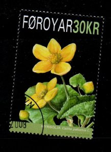 Faroe Islands Sc 501 2008 Flower stamp used