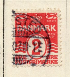 Denmark 1875 Early Issue Fine Used 2ore. NW-113857
