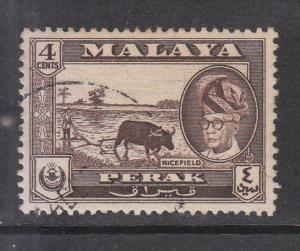 Malaya Perak 1957 Sc 129 4c Used