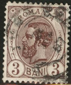 ROMANIA Scott 119 use King Carol I  1893, 3b