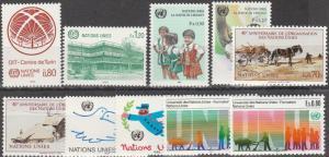 United Nations Geneva #129-36, 138-9 MNH  CV $7.80