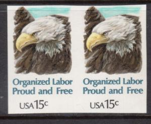 USA #1831a VF/NH Imperf Pair