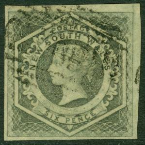 EDW1949SELL : NEW SOUTH WALES 1854-55 Scott #29 Very Fine, Used. Choice Cat $125