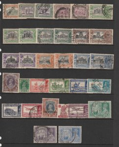 India a small collection of used KGV & VI