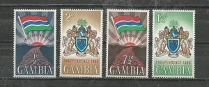 Gambia # 206-209 Mint NH
