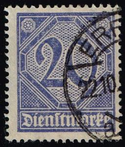 Germany #O5 Official - Numeral; CTO (0.25)