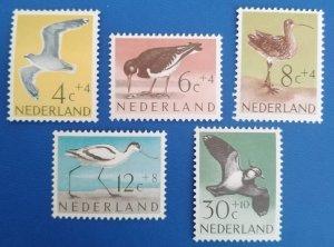 Netherlands 1961 Summer stamps, Birds set mint**