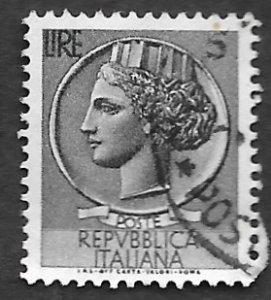 Italy Scott #674 5 l Italia (1953) Used