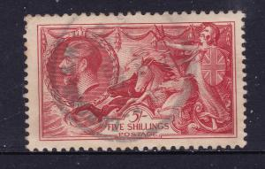 Great Britain a used 5/- KGV from the 1934 set