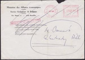 BELGIUM TO VIETNAM TO FIJI 1989 cover MISSENT TO HO CHI MINH CITY...........5981