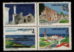 Uruguay Scott 1070 MNH** Block of Four stamps