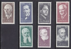 Germany DDR 1270-75 MNH 1971 Portraits Honoring Prominent Germans Full Set VF