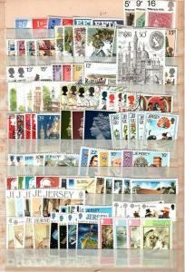 Gr. Britain and Jersey Collection - Most NH sets / few sets used (CV $121.82)