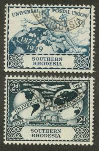 Southern Rhodesia 71-72 Used VF