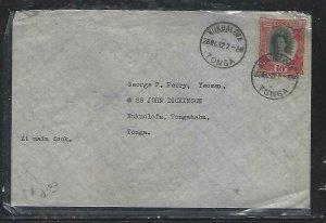 TONGA  (P2808BB)  1942 QUEEN 10D TO BOAT AT DOCK NUKUOLOFA, TONGA