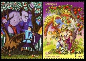 2019 Azerbaijan 1497-1498 Joint issue of Belarus and Azerbaijan. Folk tales