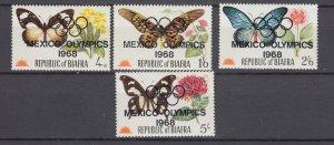 J28895, 1968 biafra unissued set mnh ovpt 68 mexico olympics $14 mention scott #