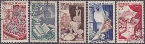 France 711-715  Designs, Set 1954