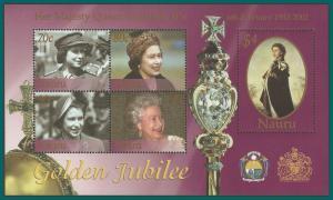 Nauru 2002 QEII Golden Jubilee, MS MNH #495,SGMS531