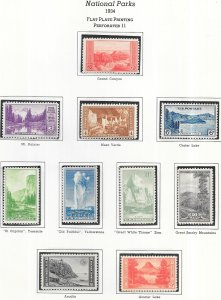 US#740 -749  National Parks Issue (MNH) CV $30.00