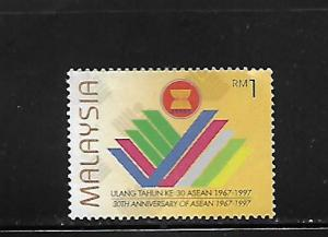 MALAYSIA,631, MINT NEVER HINGED, ASEAN 30TH ANNIV.