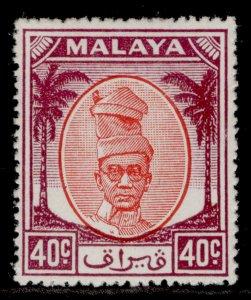 MALAYSIA - Perak GVI SG144, 40c red & purple, M MINT. Cat £11.