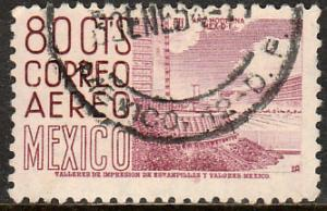 MEXICO C213, 80cts 1950 Definitive 2nd Printing wmk 300 HORIZ. USED. F-VF. (970)
