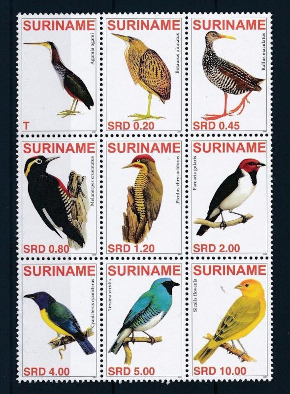[SU1458] Suriname Surinam 2007 Birds  MNH