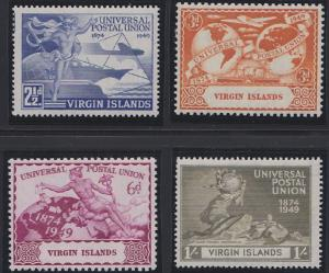 Virgin Islands 92-95 MNH (1949)