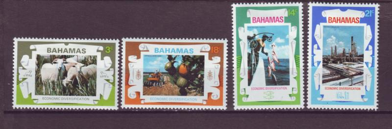 J16150 JLstamps 1975 bahamas set mh #374-7 occupations