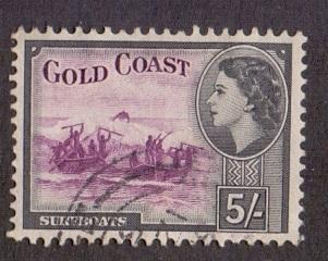 Gold Coast  1952    used  158       5s.    #