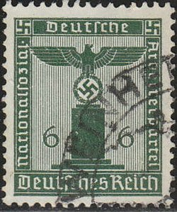 Stamp Germany Official Mi 148 Sc S5 1938 WW2 Fascism Occupation Franchise Used