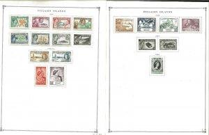 Pitcairn Islands 1940=1989 MNH &* LH in Mounts on Scott Internation al pages