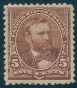 US Scott #255 Mint, FVF, HR