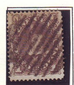 Newfoundland Sc 42 1880 1 c gr brn Pr of Wales stamp used
