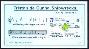 Tristan Da Cunha Sc# 415 MNH Souvenir Sheet 1987 Shipwrecks