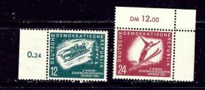 Germany (DDR) 76-77 MNH 1951 Winter Sports
