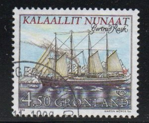 Greenland Sc 338 1998 Sailing Ship Gertrud Rask stamp used
