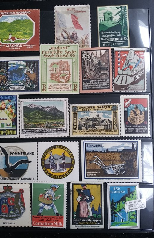 World Exhibition, Convention, Stamp Show, Poster, Label stamp Collection LOT #Q7
