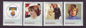J24195 JLstamps 1982 bahamas set mh #510-3 diana