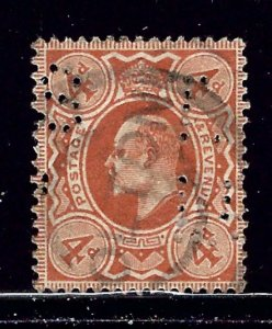Great Britain 150 Used 1911 Perfin issue    (ap1788)