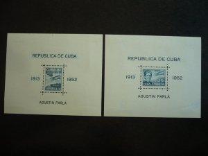 Stamps  - Cuba - Scott# C61a - C62a - Mint Hinged Set of 2 Souvenir Sheets